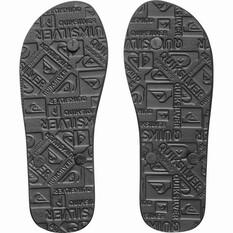 Quiksilver Molokai Mens Thongs, Black / White, bcf_hi-res