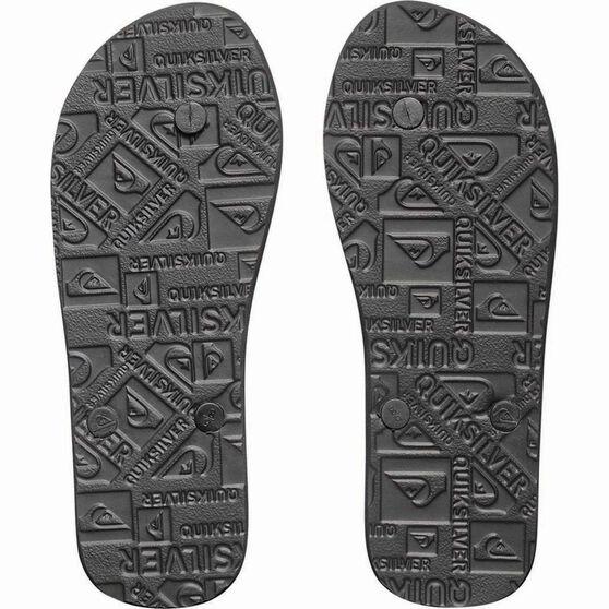 Quiksilver Men's Molokai Thongs, Black / White, bcf_hi-res