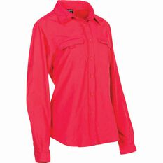 Outdoor Expedition Women's Vented Long Sleeve Fishing Shirt 8 Pop Pink 8, Pop Pink, bcf_hi-res