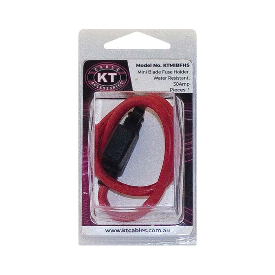 KT Cables Water Resistant Mini Blade Fuse Holder, , bcf_hi-res