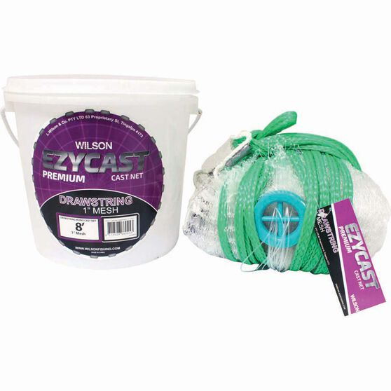 Wilson Mono Mesh Cast Net With Drawstring 1in, , bcf_hi-res