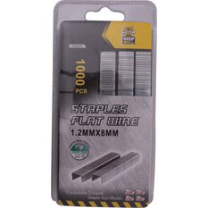 Gripwell 8mm Staples 1000 Pieces, , bcf_hi-res