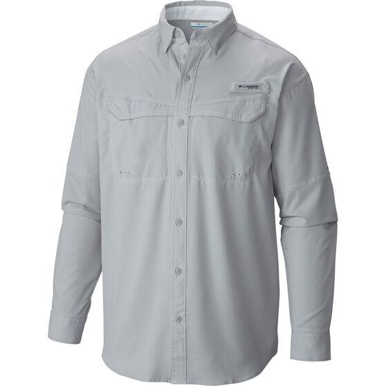 Columbia Men's Low Drag Offshore Long Sleeve Shirt, Grey, bcf_hi-res