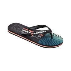 Quiksilver Waterman Men's Molokai Arch Rave Wave Thongs Black / Grey 8, Black / Grey, bcf_hi-res