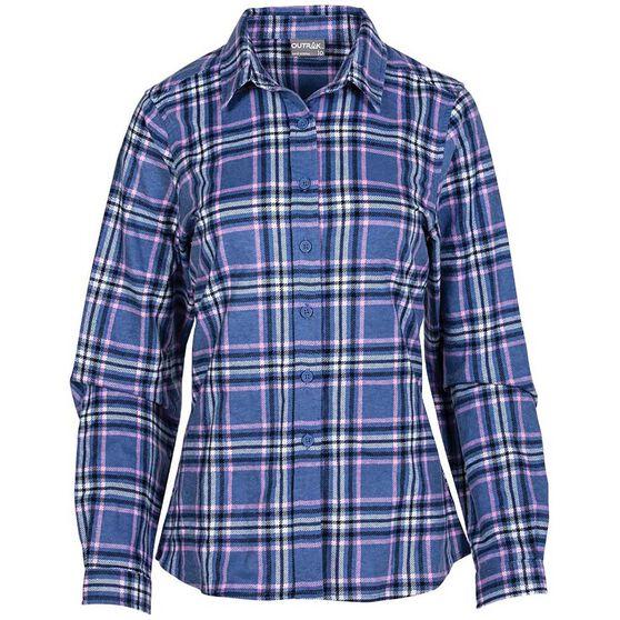 OUTRAK Women's Flannel Shirt, Blue / Pink, bcf_hi-res