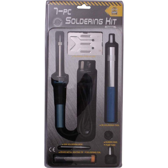 Gripwell Soldering Iron Kit 7 Pieces, , bcf_hi-res