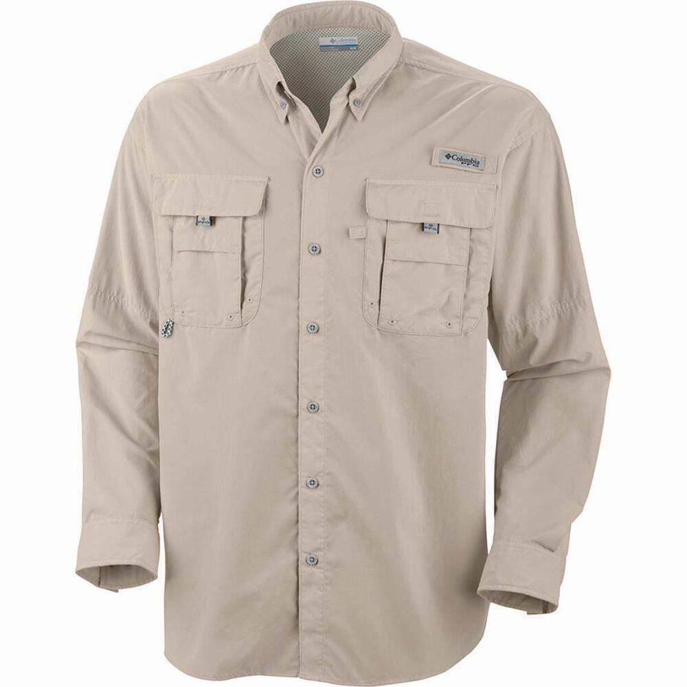 9f1173f43aa Columbia Men's Bahama II Long Sleeve Fishing Shirt, Fossil, bcf_hi-res