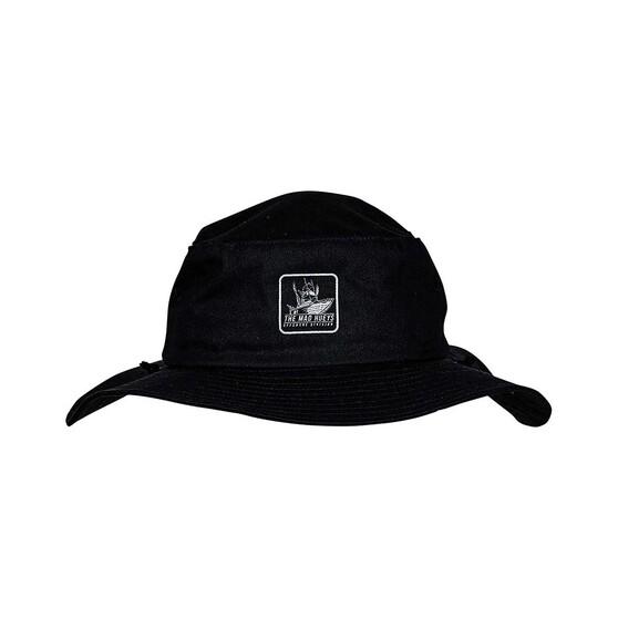 The Mad Hueys Men's Offshore Reflector Wide Brim Hat, Black, bcf_hi-res
