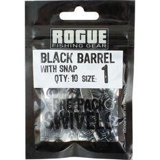 Rogue Black Barrel Snap Swivel 10 Pack, , bcf_hi-res