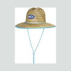 BCF Womens Straw Hat Aqua OSFM, Aqua, bcf_hi-res
