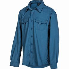 Outdoor Expedition Kids' Vented Long Sleeve Shirt Dark Blue 8, Dark Blue, bcf_hi-res