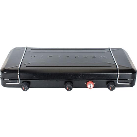 Wanderer LPG Portable Stove with Drip Tray 3 Burner, , bcf_hi-res