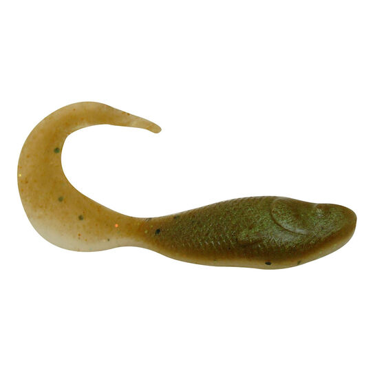 Berkley Gulp! Minnow Grub Soft Plastic Lure 2in Banana Prawn, Banana Prawn, bcf_hi-res
