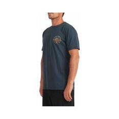 Quiksilver Waterman Men's Ocean Eyes Short Sleeve Tee, Midnight Navy, bcf_hi-res