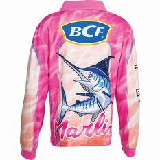 BCF Kids' Marlin Sublimated Polo Pink 6, Pink, bcf_hi-res