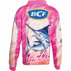 BCF Kids' Marlin Sublimated Polo Pink 5, Pink, bcf_hi-res