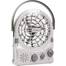 Companion Rechargeable Fan with Radio, , bcf_hi-res