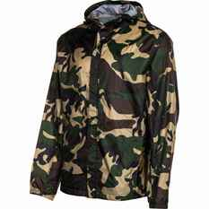 OUTRAK Printed Packaway Rain Jacket Camo S, Camo, bcf_hi-res