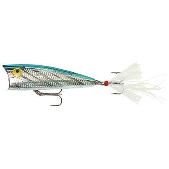 Rebel Teeney Pop-R Surface Lure 2in Silver Blue, Silver Blue, bcf_hi-res