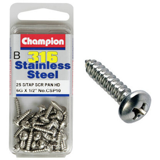 Champion Self Tapping Screw - 4G X 5 / 8inch, , bcf_hi-res