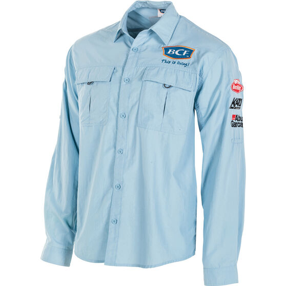 BCF Men's Long Sleeve Fishing Shirt Spray 2XL, Spray, bcf_hi-res