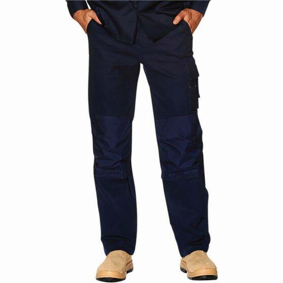 Tradie Men's Slim Fit Cargo Pants, Navy, bcf_hi-res