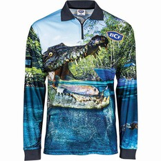 BCF Men's Croc Sublimated Polo Green S, Green, bcf_hi-res