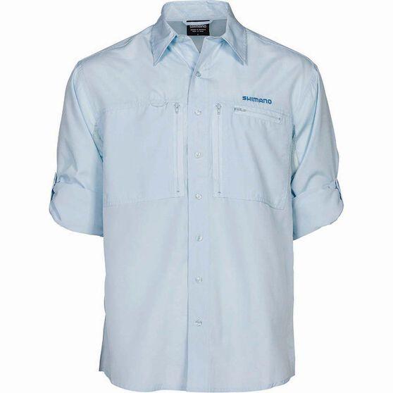 Shimano Men's Slim Fit Pro Vented Long Sleeve Shirt, Ice, bcf_hi-res