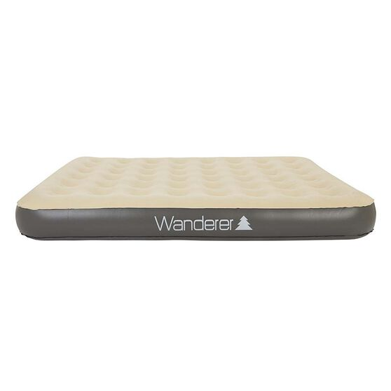 Wanderer Single High Airbed with Pump Queen, , bcf_hi-res