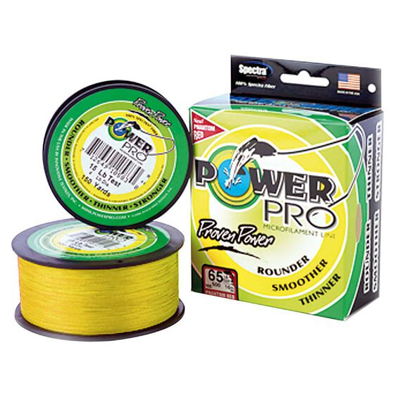 Power Pro Braid Line 150yds, Yellow, bcf_hi-res