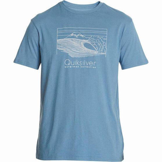 Quiksilver Men's Sketchy Scene II Tee Blue Shadow S Men's, Blue Shadow, bcf_hi-res