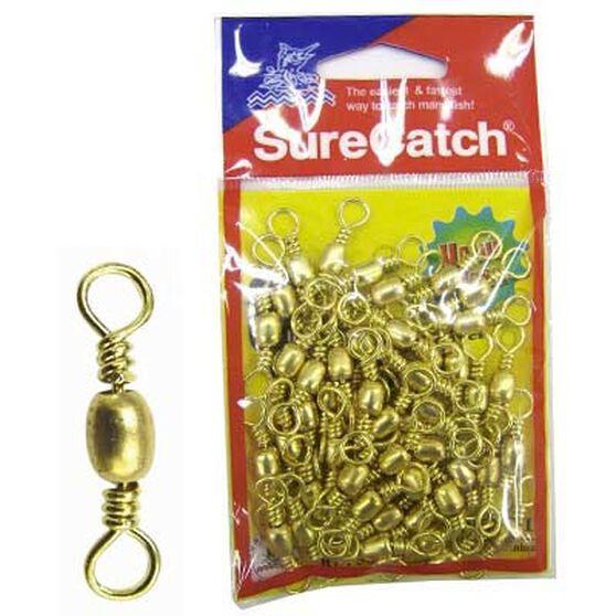 Surecatch Brass Barrel Swivel 50 Pack Size 12, , bcf_hi-res
