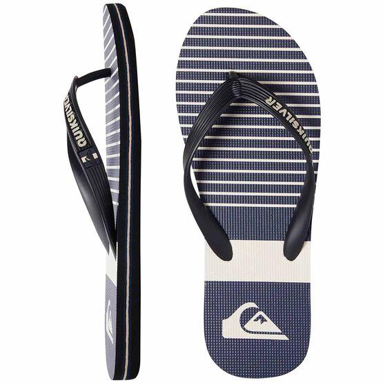Quiksilver Waterman Molokai Tijuana Thongs, Black / Blue / Grey, bcf_hi-res