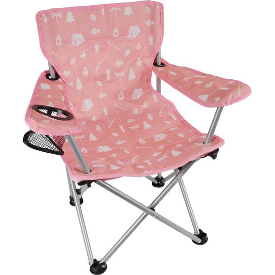 Wanderer Kids' Camping Fun Camp Chair Pink, Pink, bcf_hi-res