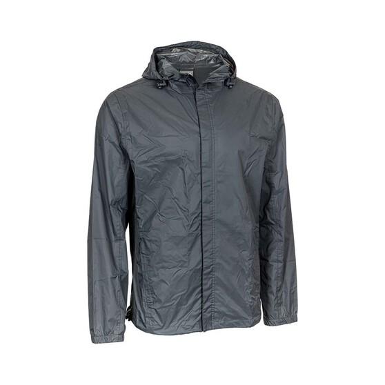 OUTRAK Men's Packaway Rain Jacket, Iron Gate, bcf_hi-res