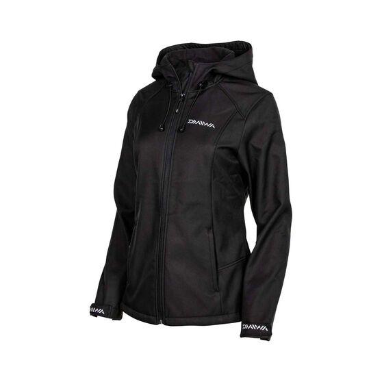Daiwa Trekker  Softshell Jacket - Womens, Black, 8, Black, bcf_hi-res