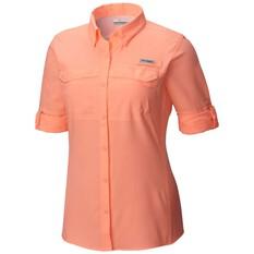 Columbia Women's Low Drag Offshore Long Sleeve Shirt, Pink, bcf_hi-res