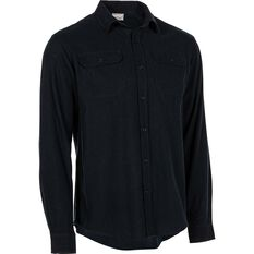 OUTRAK Men's Yarn Dye Flannel Shirt Black S, Black, bcf_hi-res