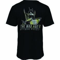 The Mad Hueys Men's Offshore Camo Short Sleeve UV Tee, Black, bcf_hi-res