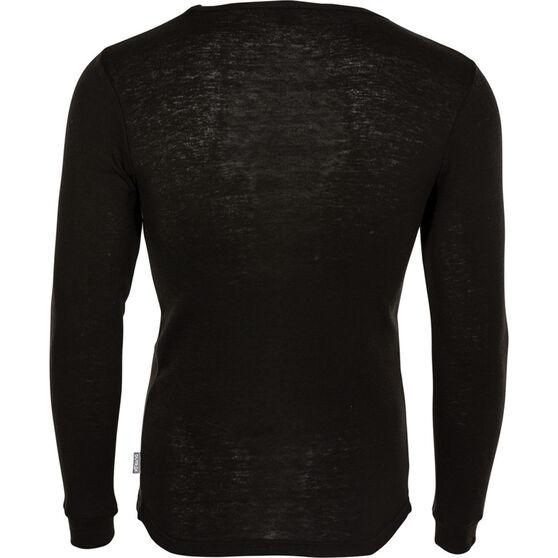 OUTRAK Men's Polypro Long Sleeve Top, Black, bcf_hi-res