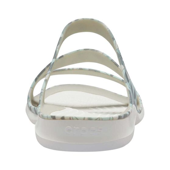 Crocs Women's Swiftwater Print Sandal, Geo / White, bcf_hi-res