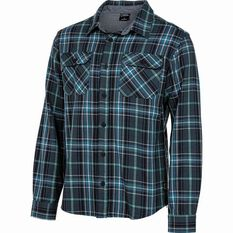 National Geographic Twill Long Sleeve Shirt Navy Check S, Navy Check, bcf_hi-res