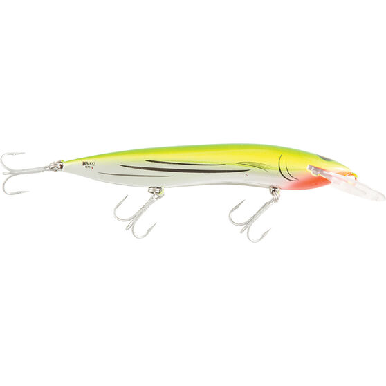 RMG Scorpion Double Deep Hard Body Lure 150mm Liquid Lime 150mm, Liquid Lime, bcf_hi-res