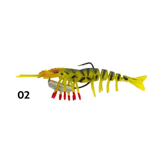 Zerek Live Shrimp Hot Legs Soft Plastic Lure 4in Col 02, Col 02, bcf_hi-res