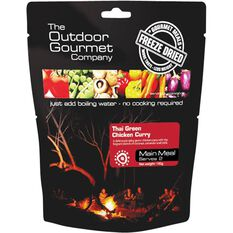 Outdoor Gourmet Company Thai Green Curry Chicken Freeze Dried Food 2 Serves, , bcf_hi-res
