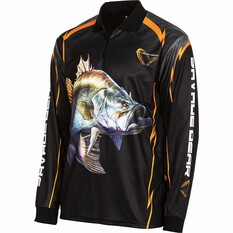 Savage Men's Barra Sublimated Polo Black S, Black, bcf_hi-res