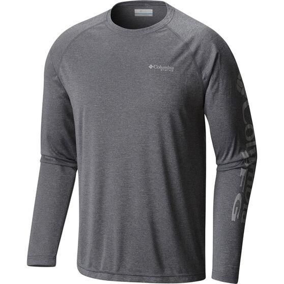 Columbia Men's Terminal Long Sleeve Shirt, Charcoal Heather, bcf_hi-res