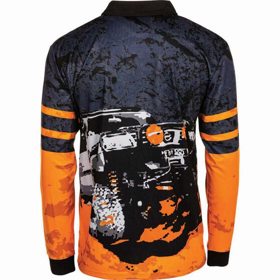 BCF Men's 4WD Sublimated Polo Orange 2XL, Orange, bcf_hi-res