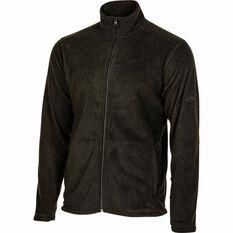 OUTRAK Men's Basic Fleece Jacket Black S, Black, bcf_hi-res