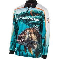 Savage Men's Bream Sublimated Polo Blue S, Blue, bcf_hi-res
